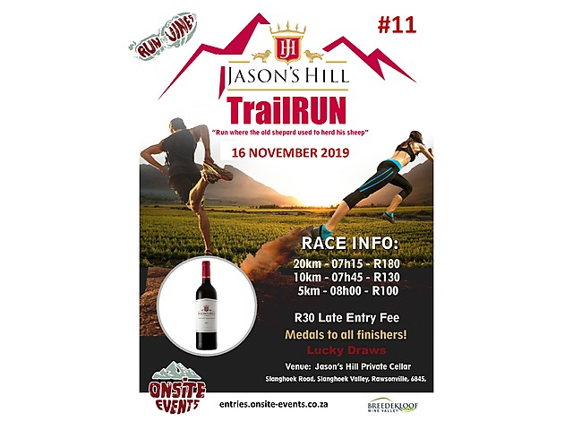 Jasons Hill Trail Run Poster 2019.jpg - Breedekloof Wine Valley image
