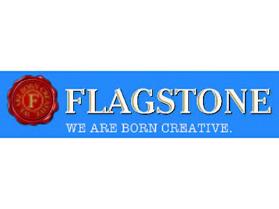 Flagstone logo - on blue background with text_SMALL-01.jpg - Flagstone Winery image